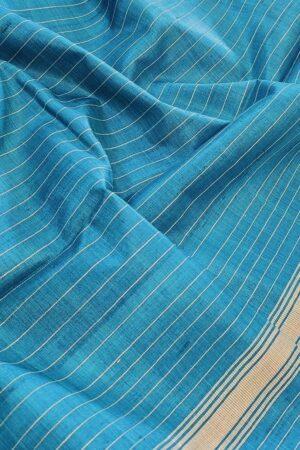 blue tussar saree2