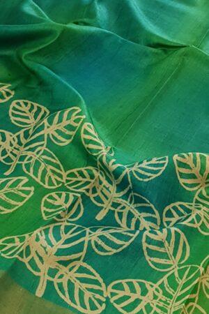 green shaded with zari border1