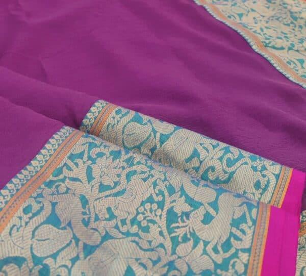 mauve kanchi cotton saree with vanasingaaram border2