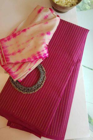 pink tussar saree11