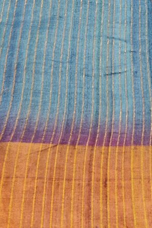 violet shaded tussar saree4