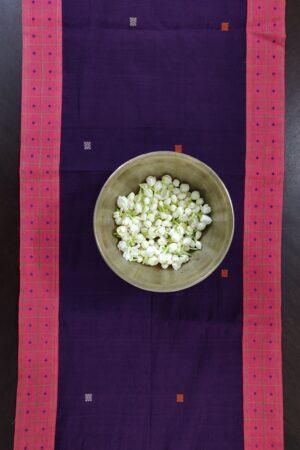 Violet kanchi cotton table runner 11