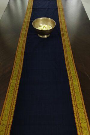 Navy blue kanchi cotton table runner 1