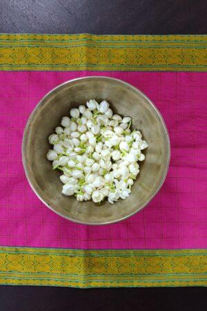 pink kanchi cotton tabke runnr 1