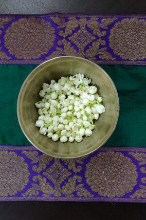 Green kanchi cotton table runner 2