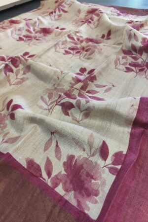 beige with pink zari border1