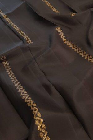 black dhaka stripes kanchi silk saree1