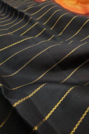 black veldhari kanchipuram silk saree1