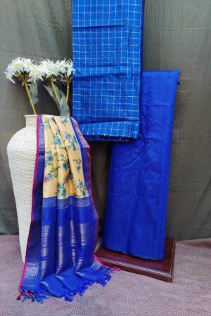 blue silk set