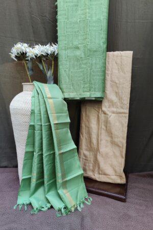 cardamom green silk set