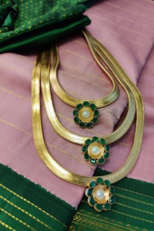 suhani green step necklace