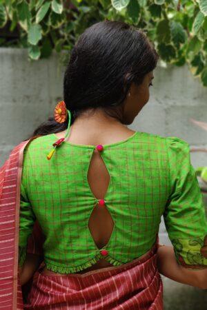 lime green kanchi cotton blouse3