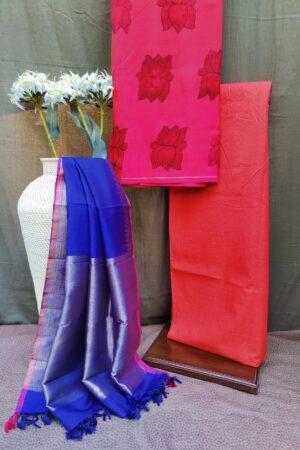 lotus print silk set