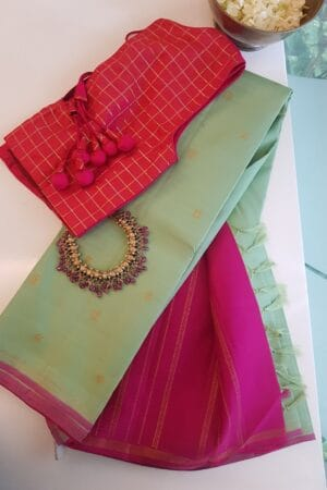 mint green and pink