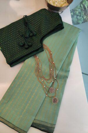 mint green kanchipuram silk saree