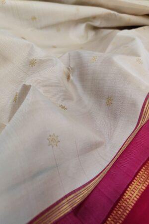 off white and maroon kanchi silk saree2