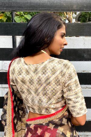 off white cotton kota blouse