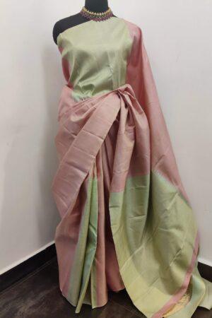 pink and green box type kanchi silk saree1
