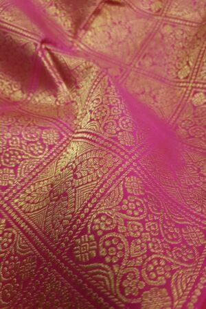 pink brocade kanchipuram silk saree1