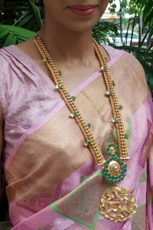 pink chanderi sleevesless blouse1