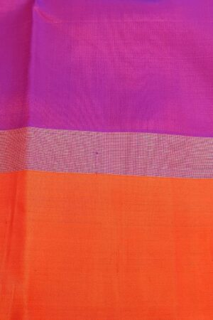 pink with orange border mango butta saree2