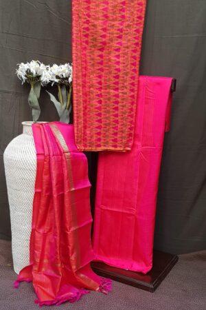 rani pink silk set
