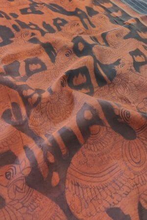 black and rust kanchi silk kalamkari saree2