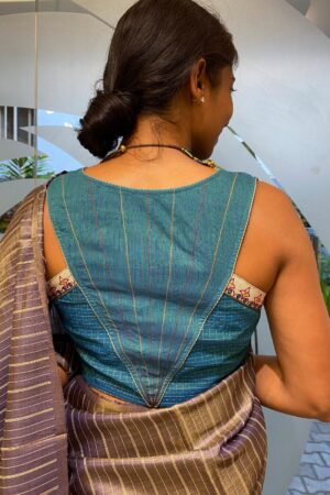 blue kanchi cotton blouse1