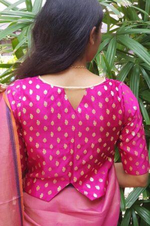 dark pink brocade blouse2