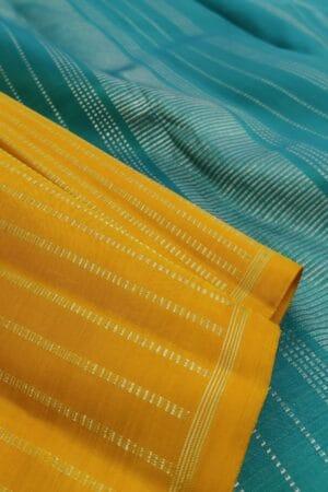 mustard saree with rising lines2