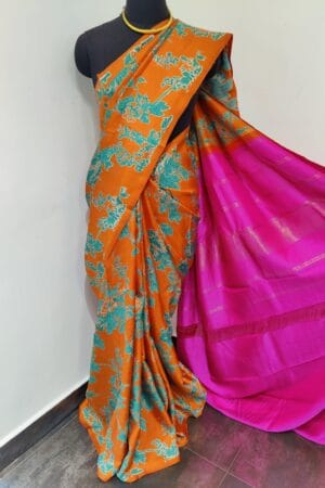 orange and pink with teal print4