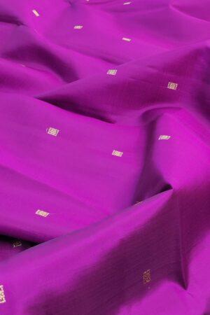 violet kanchi silk saree with ponvandu pallu4